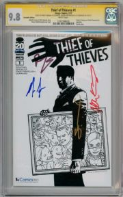 Thief Of Thieves #1 Comicspro CGC 9.8  Signature Series Signed x4 Robert Kirkman Spencer comic